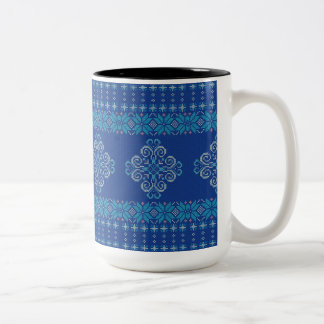 Christmas knitted pattern Two-Tone coffee mug