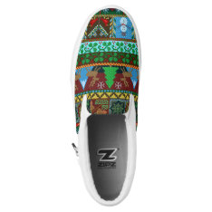 Christmas Knitted Sweater Pattern Reindeer Holiday Slip-on Sneakers at Zazzle