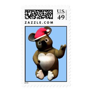 Christmas Koala Bear loves da belly! Postage