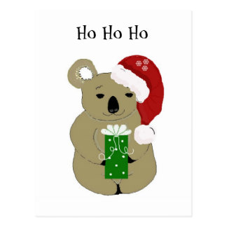 Christmas Koala Bear Postcard