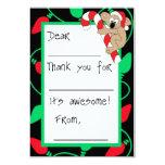 Christmas Koala Fill-in-the-Blank Thank You Custom Announcements