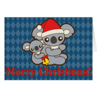 Christmas Koalas Card