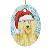 Christmas Komondor Ceramic Ornament