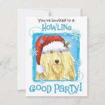Christmas Komondor Holiday Invitation