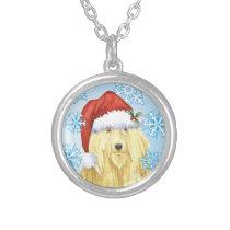 Christmas Komondor Silver Plated Necklace