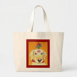 Christmas Lab Tote Bag