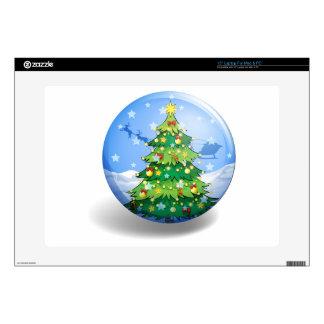 """Christmas label 15"""" laptop skin"""