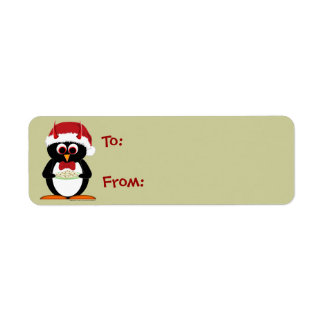 Christmas Labels - Evil Penguin