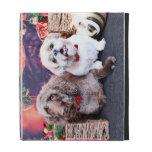 Christmas - LabraDoodle Bob - Shih Tzu Bentley iPad Folio Cases