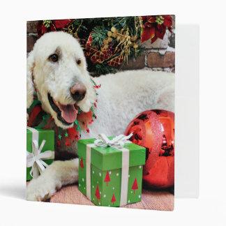Christmas - LabraDoodle - Davis Vinyl Binder