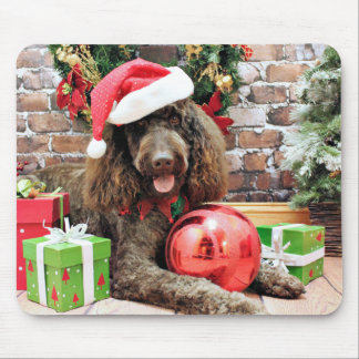 Christmas - LabraDoodle - Harley Mousepad
