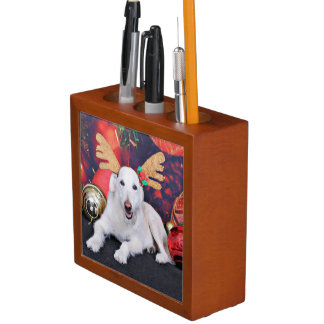 Christmas - LabraDoodle - Izzy Pencil Holder