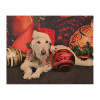 Christmas - LabraDoodle - Izzy Cork Paper