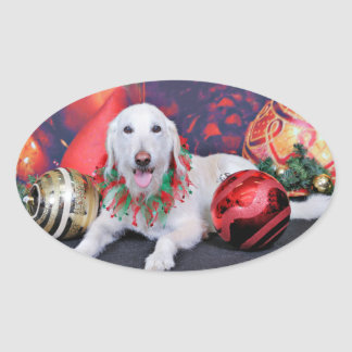 Christmas - LabraDoodle - Izzy Stickers