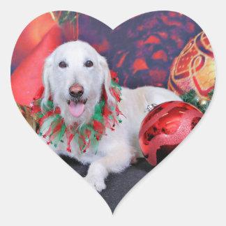 Christmas - LabraDoodle - Izzy Heart Sticker