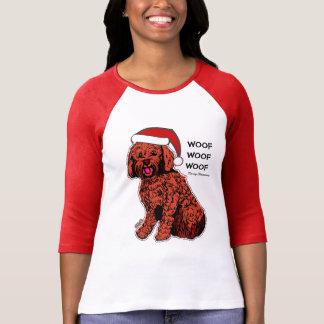 Christmas Labradoodle Women's Bella Raglan T-Shirt