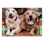 Christmas - Labrador Ally - Golden Retriever Wrigl Greeting Card
