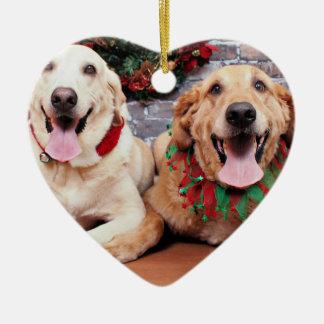 Christmas - Labrador Ally - Golden Retriever Wrigl Ceramic Ornament