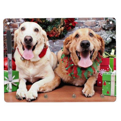 Christmas - Labrador Ally - Golden Retriever Wrigl Dry-Erase Boards