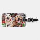 Christmas - Labrador Ally - Golden Retriever Wrigl Travel Bag Tag