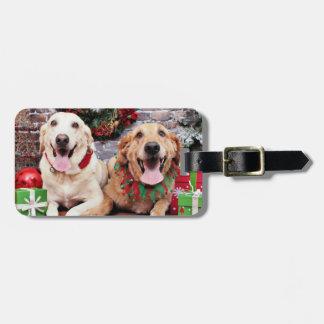 Christmas - Labrador Ally - Golden Retriever Wrigl Luggage Tag