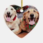 Christmas - Labrador Ally - Golden Retriever Wrigl Christmas Ornament