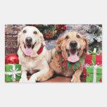 Christmas - Labrador Ally - Golden Retriever Wrigl Rectangular Sticker