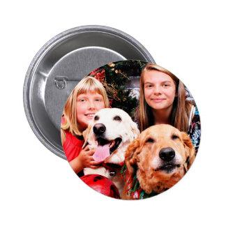 Christmas - Labrador  Ally - Golden Wrigley Button