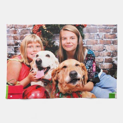 Christmas - Labrador  Ally - Golden Wrigley Kitchen Towel