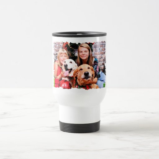 Christmas - Labrador Ally - Golden Wrigley 15 Oz Stainless Steel Travel Mug