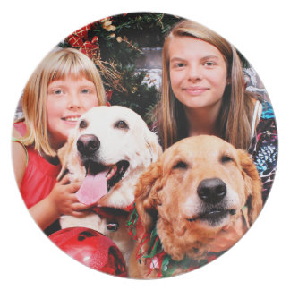 Christmas - Labrador Ally - Golden Wrigley Party Plates