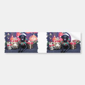 Christmas - Labrador - Cooper Bumper Sticker