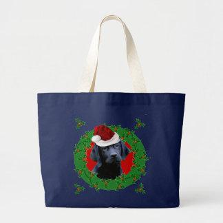Christmas Labrador Dog Jumbo Tote Bag