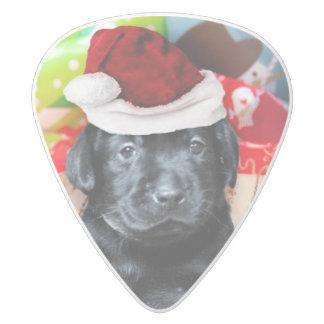 Christmas Labrador dogs White Delrin Guitar Pick