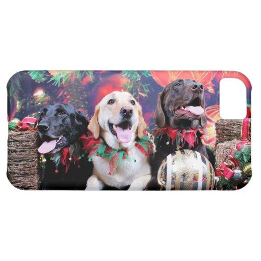 Christmas - Labrador - Dude Jag and Mocha iPhone 5C Cover