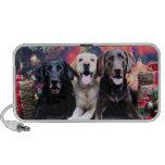 Christmas - Labrador - Dude Jag and Mocha iPod Speaker