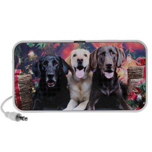 Christmas - Labrador - Dude Jag and Mocha Mini Speaker