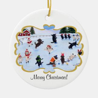 Christmas Labrador Fun Painting Ceramic Ornament