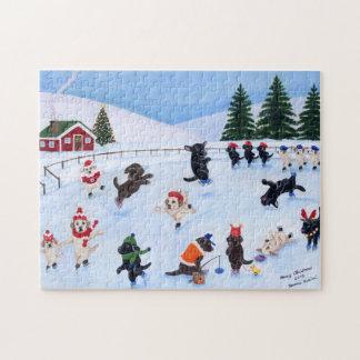 Christmas Labrador Fun Painting Jigsaw Puzzle