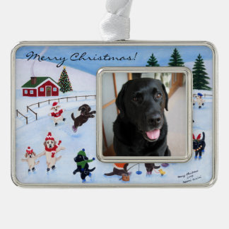 Christmas Labrador Fun Painting Ornament