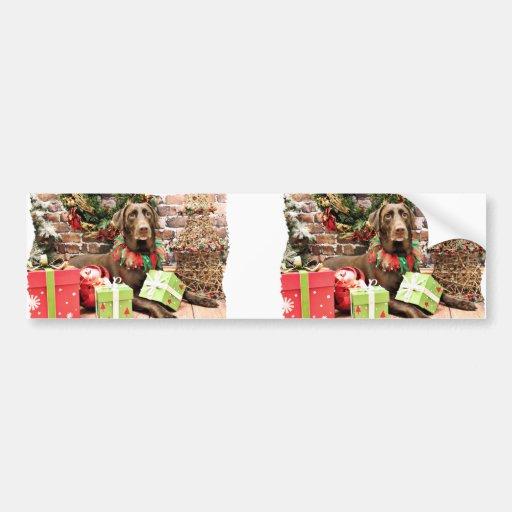 Christmas - Labrador - Jersey Girl Car Bumper Sticker
