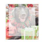 Christmas - Labrador - Lennon Memo Notepad