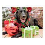 Christmas - Labrador - Lennon Postcard