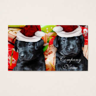 Christmas Labrador puppies Business Card