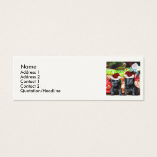 Christmas Labrador puppies Mini Business Card