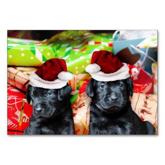 Christmas Labrador puppies Table Card