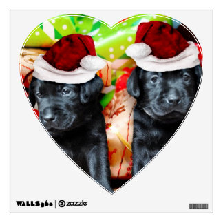 Christmas Labrador puppies Wall Sticker