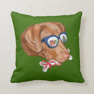 Christmas, Labrador Retriever Dog Throw Pillow