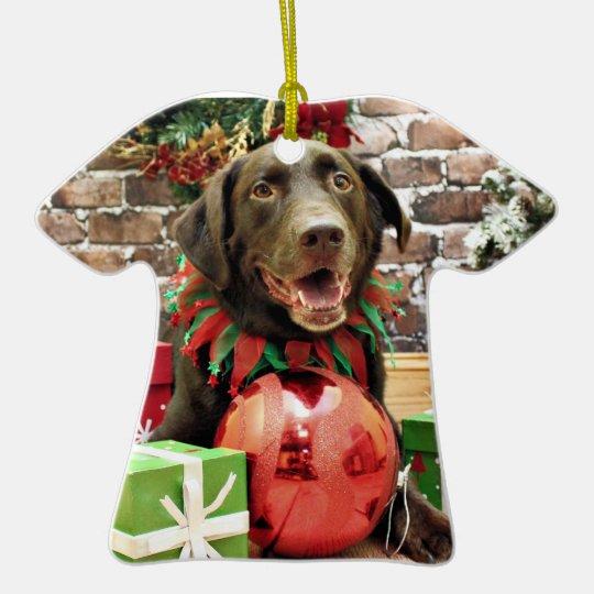 Christmas - Labrador - Riley Ceramic Ornament