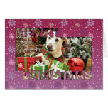 Christmas - Labrador X - Max Greeting Card